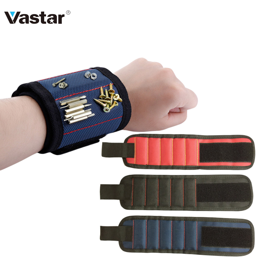 Wrist Support Strong Magnetic For Screw Nail Holder Wristband Band Tool Bracelet Pouch Bag Screws Drill Holder Holding