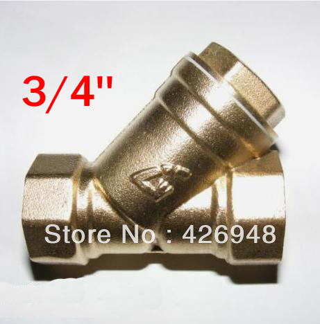 3 4 Dn20 Port Size Brass Y Strainer Valve Y Filter Valve