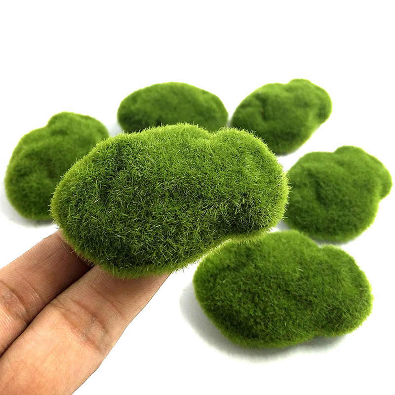 4 Size Artificial Foam Green Moss Plants Decorations Creative Home Garden Lawn Floor Adornments