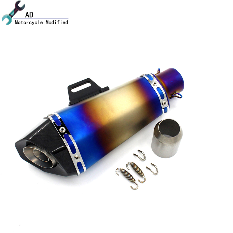 Universal 51MM Motorcycle Motocross Scooter Akrapovic Exhaust Pipe Muffler Z750 R1 R6 MT03 MT07 Tmax530 Z900 T max Accessories *