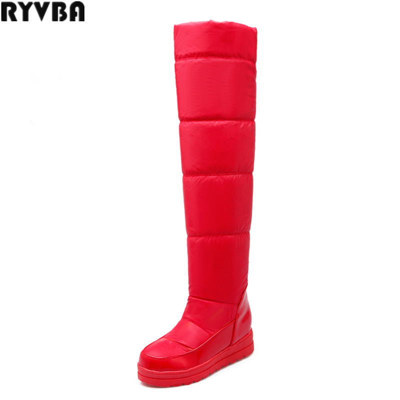 RYVBA woman winter over the knee snow boots fashion platform thigh high boots women shoes ladies womens female thick plush shoes
