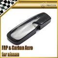 Dry Carbon Fiber Rear View Interior Room Mirror Cover For Nissan Skyline R33GTR R33GTST Spec 1 R33 4 Door R34 All Model