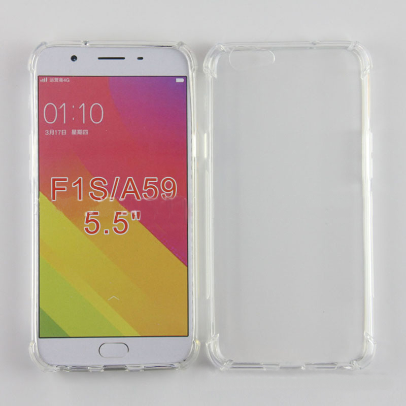 Soft TPU Airbag Anti-shock Case For <font><b>OPPO</b></font> A59 A59m A59t F1s <font><b>A1601</b></font> 5.5 In Back Clear Cover Phone Protective Cases Protection image