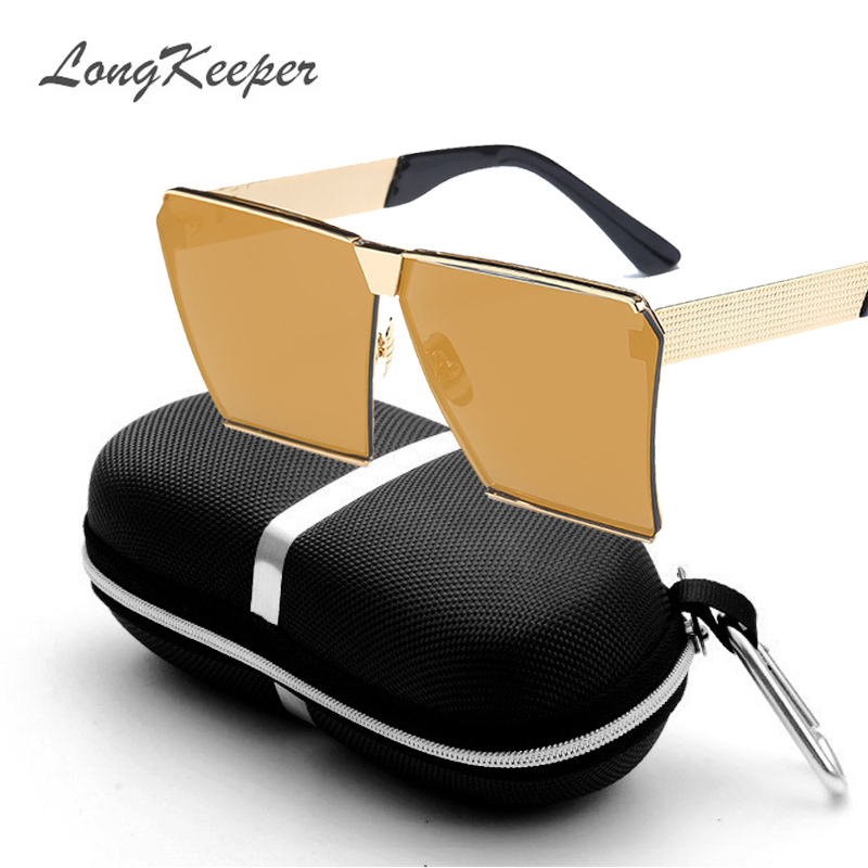 LongKeeper Nya färger Kvinnor Solglasögon Unika Oversize Shield - Kläder tillbehör - Foto 3