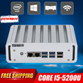 Hystou intel nuc núcleo i5 5200u barebone fanless mini pc windows 10 Servidor Linux Computador Desktop 3 anos de garantia HDMI 4 k TV caixa