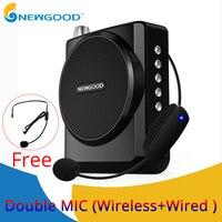 NEWGOOD Speaker voice amplifier Mini megaphone portable voice amplifiers for teachers Loudspeaker Support USB disk TF card