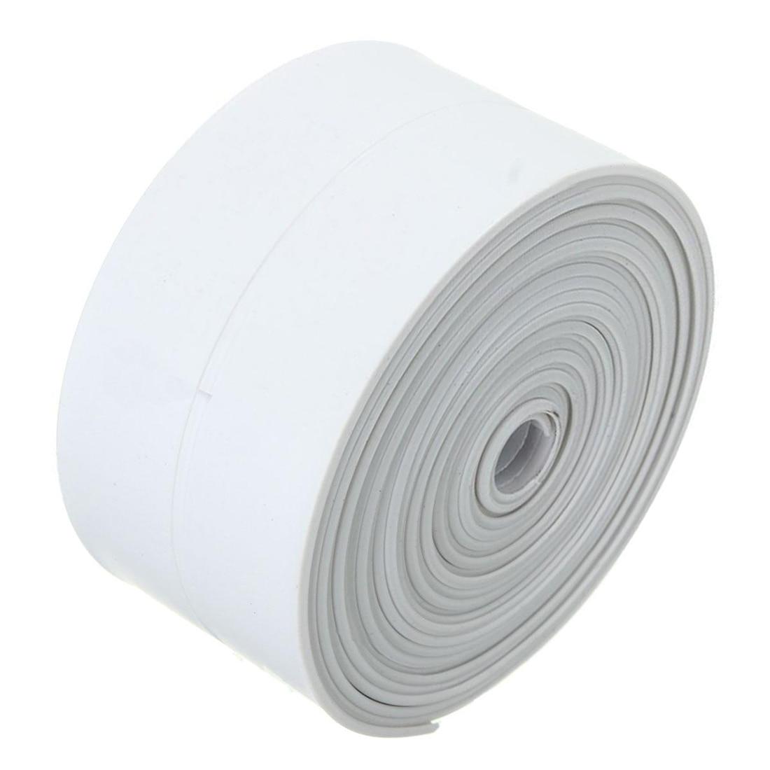 New 3.2m*38mm White Bath And Wall Sealing Strip Self Adhesive Tape Sink Basin Edge