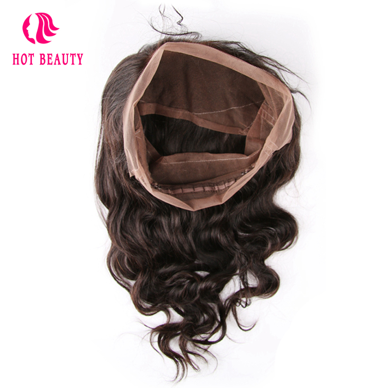 Hot Beauty Hair Remy brésilien Hair Wave Body 360 Dentelle Frontale - Cheveux humains (noir) - Photo 1