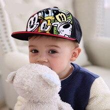 Мультфильм Детские кепки-бейсболки шапка Девочки Мальчики Малыш Мальчики Хип-хоп кепки