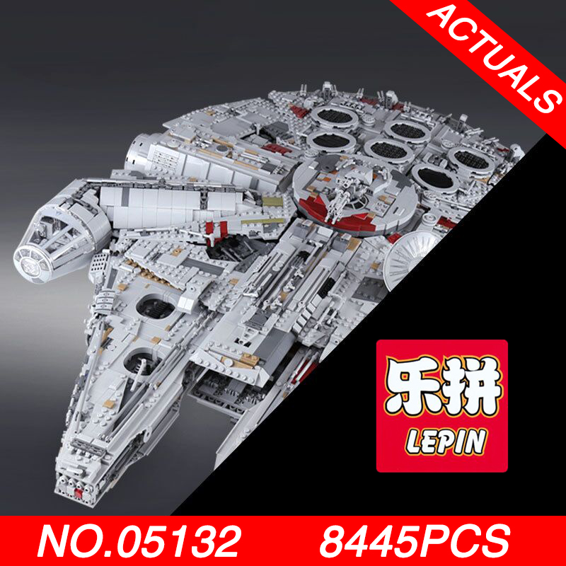LEPIN 05132 8445Pcs Ultimate Collector's Destroyer Star Series Wars Building Blocks Bricks toys for Children gifts Logoed 75192 281pcs space series combat aircraft blocks star wars diy enlighten toy building bricks blocks gifts toys for children k0259 8614