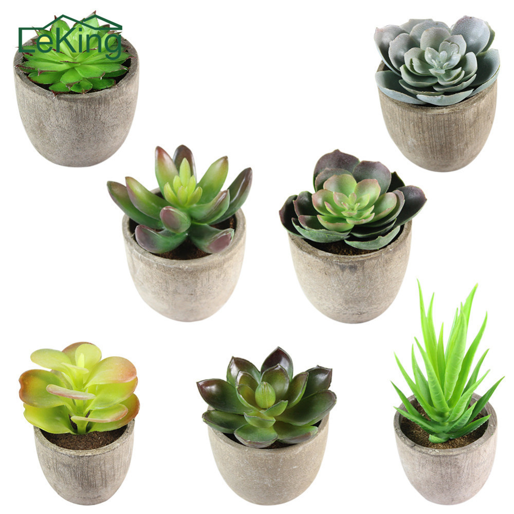 Mini Succulents Landscape Ornaments Simulation Plant DIY Craft Bonsai Garden Decoration Accessory Succulent Plants Adornment