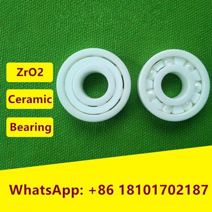 4 pièces/10 pièces 633 634 635 636 637 638 ZrO2 plein roulement En Céramique roulement à billes Miniature En Céramique De Zircone