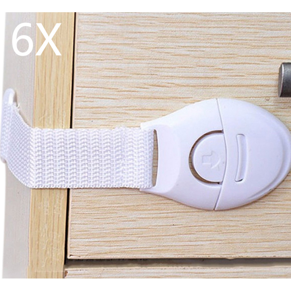 6Pcs/Lot Safe Child Lock Protection Of Children Locking Doors For Children's Safety Kids Safety Plastic Protection Baby Lock