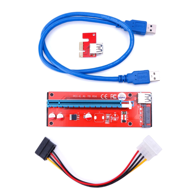 Latest version ver 007S board PCI-E PCI E Express 1X to 16X Riser Card USB 3.0 Cable for Bitcoin Litecoin Mine fsc 1717vn ver a7 indistrial board cpu card 100
