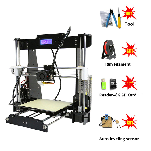 Anet A8 FDM 3D Printer Full DIY Kit Print Size 220x220x240mm High Qualtity nozzle impresora 3d Printer with Filament from Moscow 5