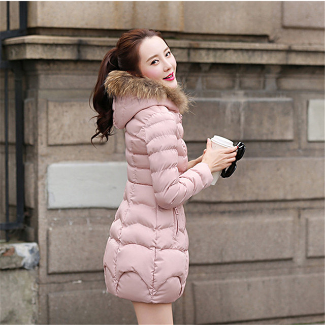 2018 The new Korean version of the long style cap coat FF104 5