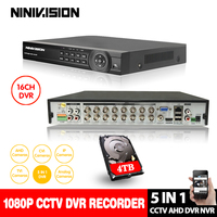 AHD DVR 16ch 1080 P Системы домашняя камера видеонаблюдения 16 канальный видеорегистратор безопасность цифровой видеорегистратор системы видеонаб