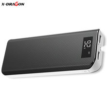 X-DRAGON 15000mAh Power Bank Mobile Phone Charger Dual USB External Battery Charger for iPhone iPad Xiaomi Huawei Cell Phones(China)