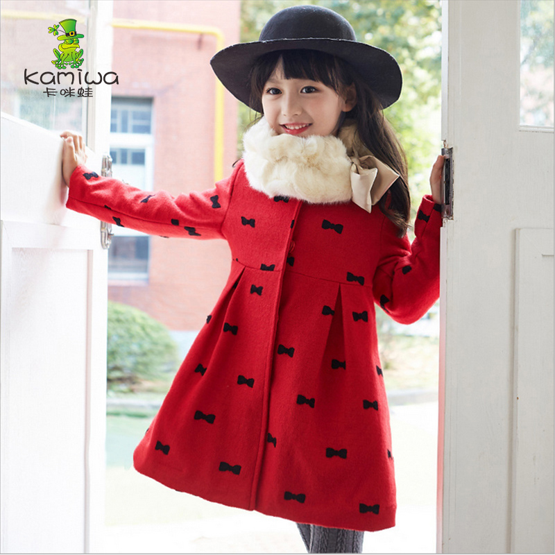 2017 Winter Children Coat for Girls Jacket Long Sleeve Bowknot Baby Jacket Parkas Warm Thick Outerwear Coat Kids Girls Clothes children winter coats jacket baby boys warm outerwear thickening outdoors kids snow proof coat parkas cotton padded clothes
