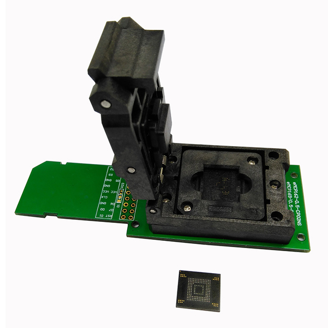 eMMC test adapter with SD Interface,Clamshell Structure,11.5*13mm,for BGA153 and BGA169 test socket,for data recovery