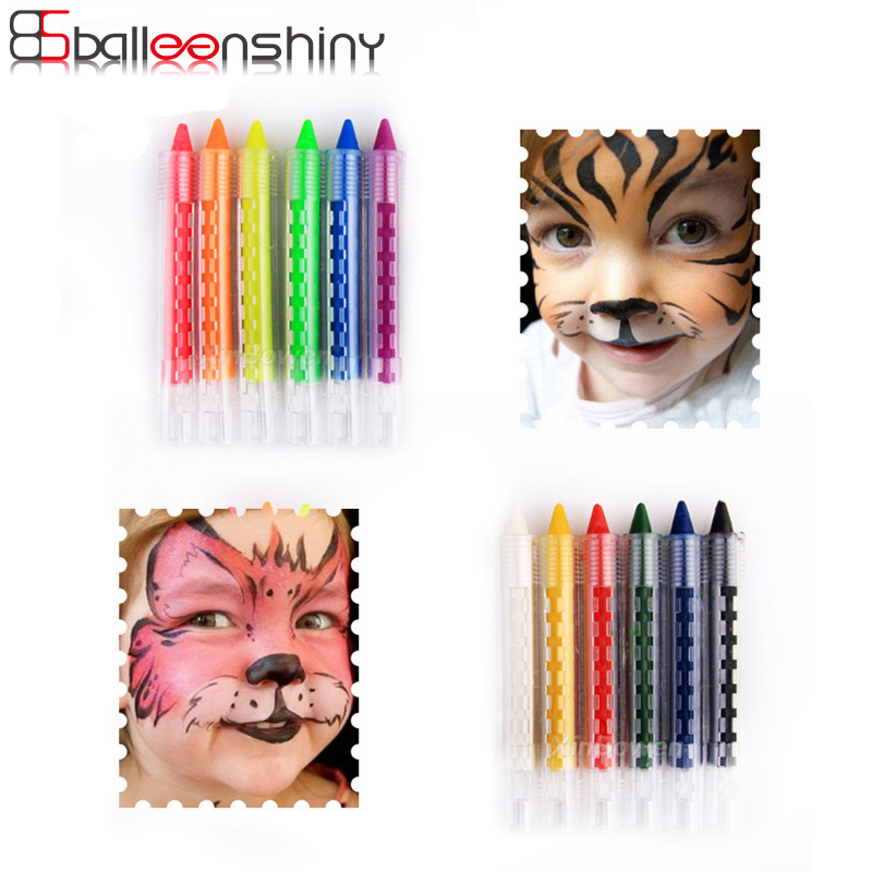 цена BalleenShiny Face Painting Pencils Baby Graffiti Creative Educational Toy Body Painting Crayon Children Party Makeup Gift Toy