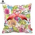 Aquarela floral Tropical flamingos Pássaro Carro Lance Decorativa Fronha fronhas Capas de Almofada Sofá Cadeira Casa Decoração