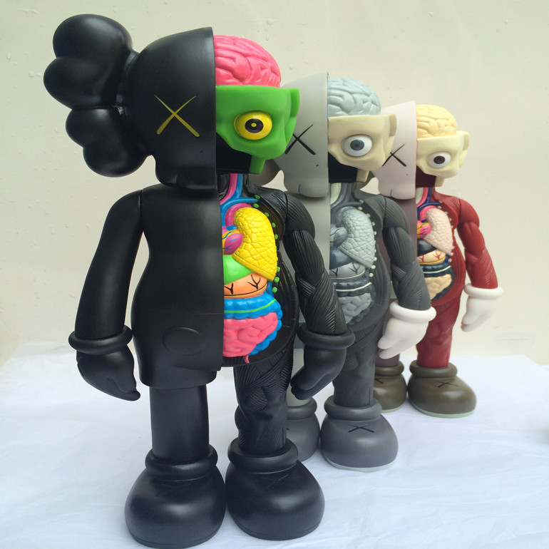 16 Inch Original fake KAWS Dissected Companion action Figure Kaws Toy Kaws Original Fake model toy  Dissection with box блузон fake ethics youth 8 16 лет