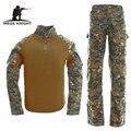 Táctico militar usmc frog ii ranger inspire airsoft paintball combat uniform traje coderas rodilleras multicam woodland digital