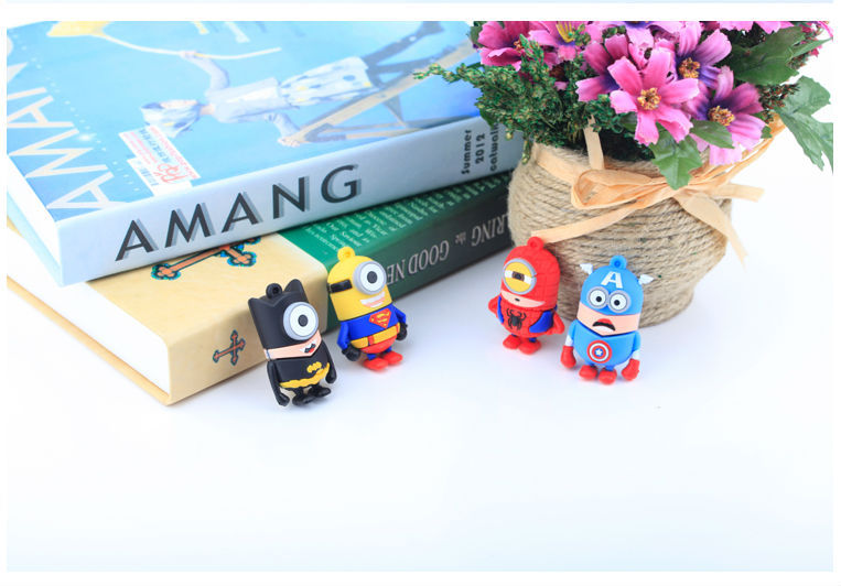 hot sell Usb 2.0 usb flash drive cartoon Super Heros Minions Captain/Batman U Disk 64gb Pendrive Memory stick 4g 8g 16g 32g#21
