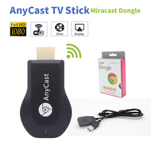 Media Player TV Stick Empuje cast Wifi Display Dongle Receptor para cromo Anycast Dl na Aire play google Anycast M2 más Google