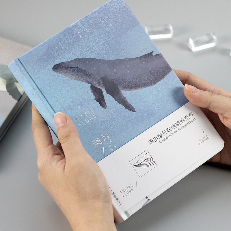Travel Along Whale Beautiful Notebook Color Paper