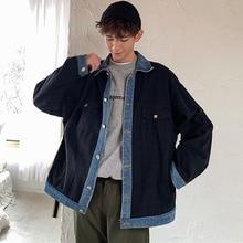 Hombres Nuevos de primavera chaqueta de Denim Vintage de moda Casual Jeans  abrigo Streetwear Hip Hop ropa de hombre abrigo 0cccf426c34