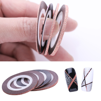 3Pcs Rose Gold Nail Striping Tape Line 1mm 2mm 3mm Sticker Matte Glitter Stickers DIY Decors Tool Art Decoratio