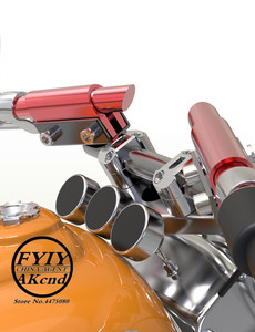 Image 2 - Universal 7/8 22mm CNC Aluminum Motorcycle Handlebar Handle bar For yamaha honda suzuki kaeasaki