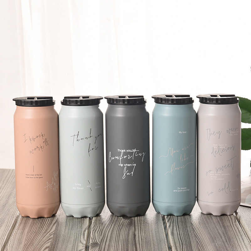 500ml thermos Creative CANS termos Stainless steel vacuum flask thermo mug contigo insulated bottle travel mug coffee termo