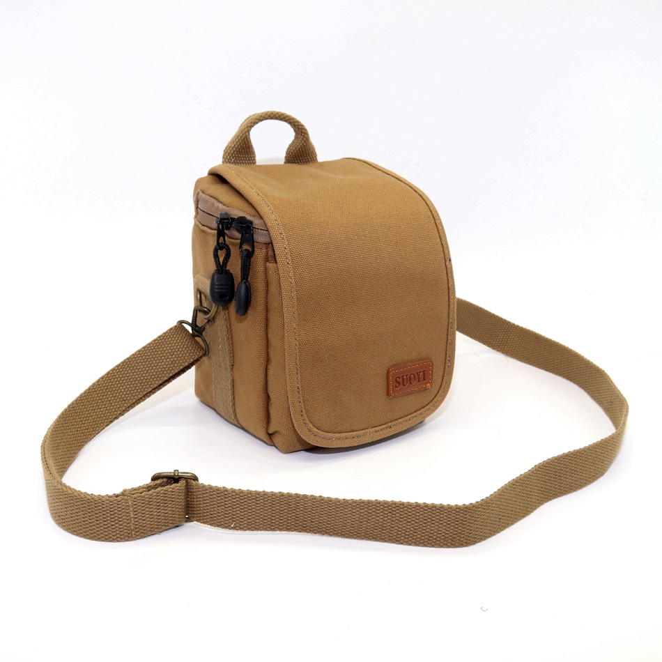 Canvas SLR Camera Cover <font><b>Case</b></font> for <font><b>Fuji</b></font> X10 X20 X30 X70 Camera <font><b>case</b></font> Finepix X100 <font><b>X100S</b></font> X100T Shoulder Bag With Strap image