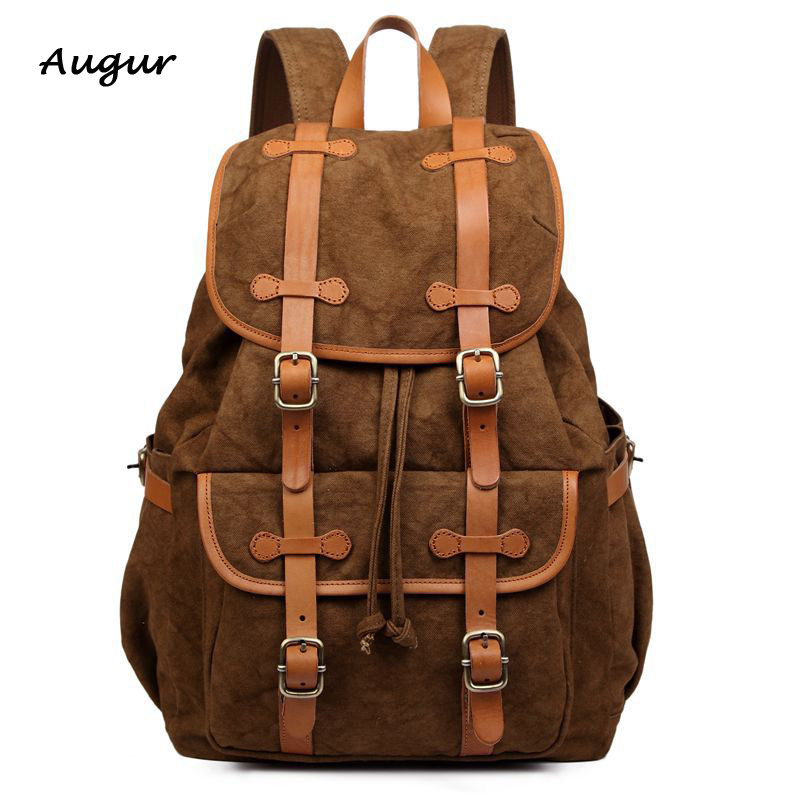 Rucksack Men's Canvas Backpack Leisure Travel Bag Backpack Vintage Fashion Men's Laptop Backpacks School Bags 8607 vintage multifunction business travel canvas backpack men leisure laptop bag school student rucksack