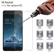 10 Pcs/Lot 2.5D 0.26mm 9H Premium Tempered Glass For Lenovo Vibe P2 Screen Protector Toughened protective film