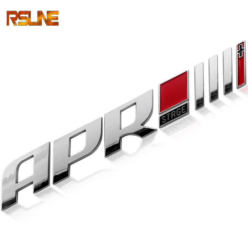 1 Pcs Drop Shipping ABS APR STAGE 1+ 2+ 3+ Racing Car Emblem Badge APR STARGE 1 2 3 Plus 3D Car Stickers GOLF Car-styling