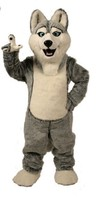 Wolf mascot costumes halloween dog mascot character holiday Head fancy party costume adult