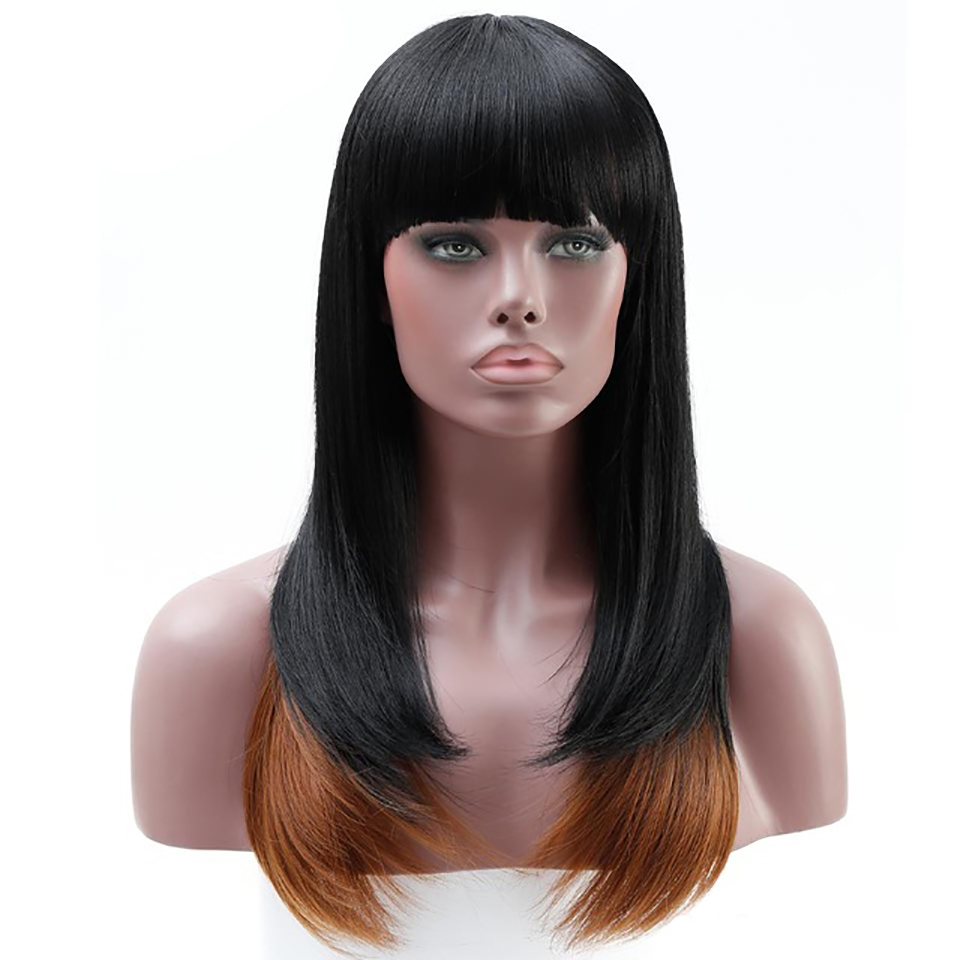 DIFEI 4 Color Long Straight Wig Synthetic Hair 100% High Temperature Fiber Hair Costume Cosplay Wig for Women