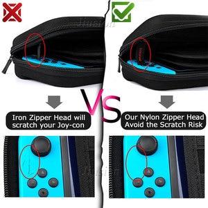 Image 3 - 9 w 1 pancerne etui dla przełącznik do nintendo do przechowywania torba do przenoszenia przenośny do Nintendoswitch Switch NS konsola do gier akcesoria