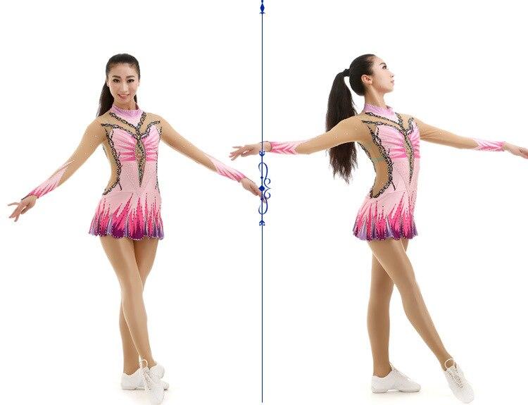 1 Set Girls Cheerleader Uniform Professional Artistic Gymnastics Competition Uniform Leotard