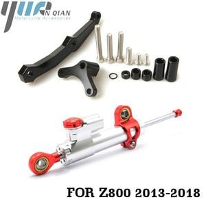 Image 3 - Motorcycle Accessories Adjustable Dampe Linear Reversed Steering Damper with bracket For Kawasaki Z800 z 800 2013 2014 2015 2016