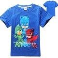 2016 crianças camisetas meninos camiseta meninas tops e blusas camisa dos miúdos t-shirt do bebê roupas crianças máscaras dos desenhos animados traje do partido