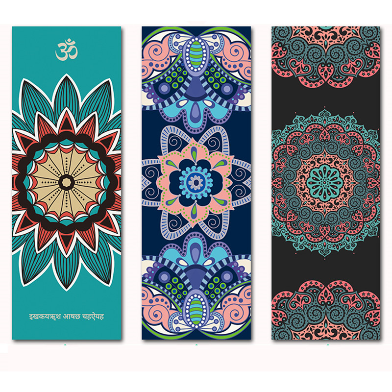 Suede Natural Rubber Yoga Mat Anti Slip Sweat Absorption 183*66cm*1.5mm Yoga Pad Fitness Gym Sports Exercise pad Yoga Mats