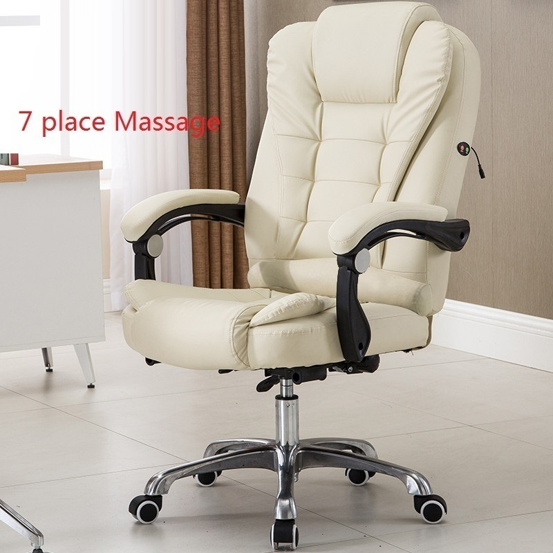 PI# 3155 Computer home office can lay bossswivel leisure chair lifting leather footrest multi point massage  high quality office computer can lay chair capable of lifting and rotating with a foot office chair chair flat home leisure
