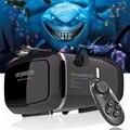 Горячая! 2017 Google Картон VR shinecon Pro Версия VR Виртуальная Реальность 3D Очки + Смарт Bluetooth Беспроводной Пульт Дистанционного Управления геймпад