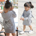 Baby Kids Girls Clothing Toddlers Newborn baby girl clothing Winter Children Clothes  Kids Girl Hooded Tops 1-6T