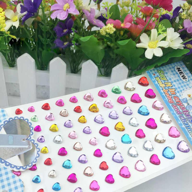 3D DIY acrílico pegatinas amor perla cristal/teléfono/PC Diamond pegatinas apliques boda joyería de las mujeres marcado